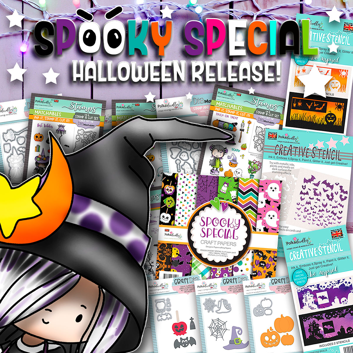 GOING BATTY HALLOWEEN STAMP, PAPER AND DIE PAPERCRAFTING COLLECTION