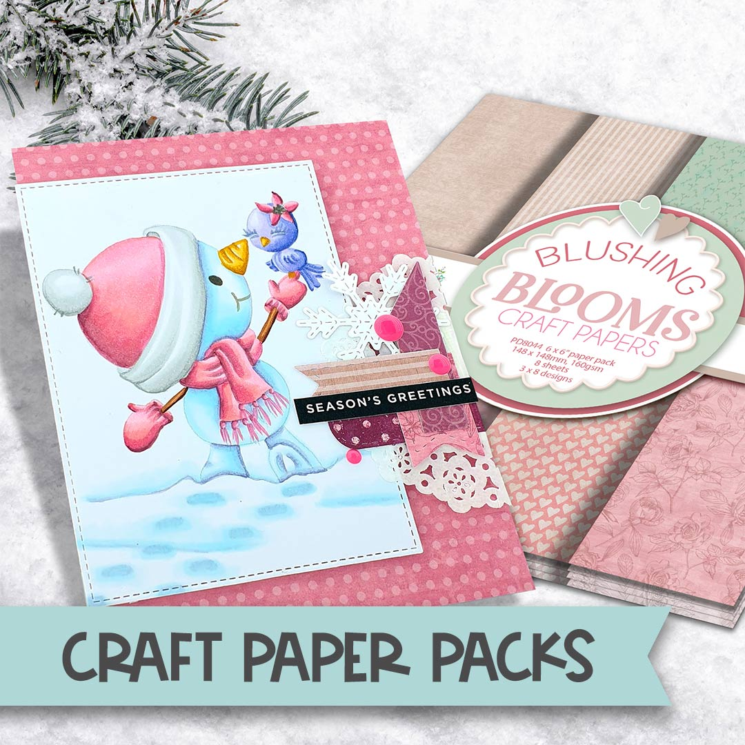 craft paper packs for card making and scrapbooking