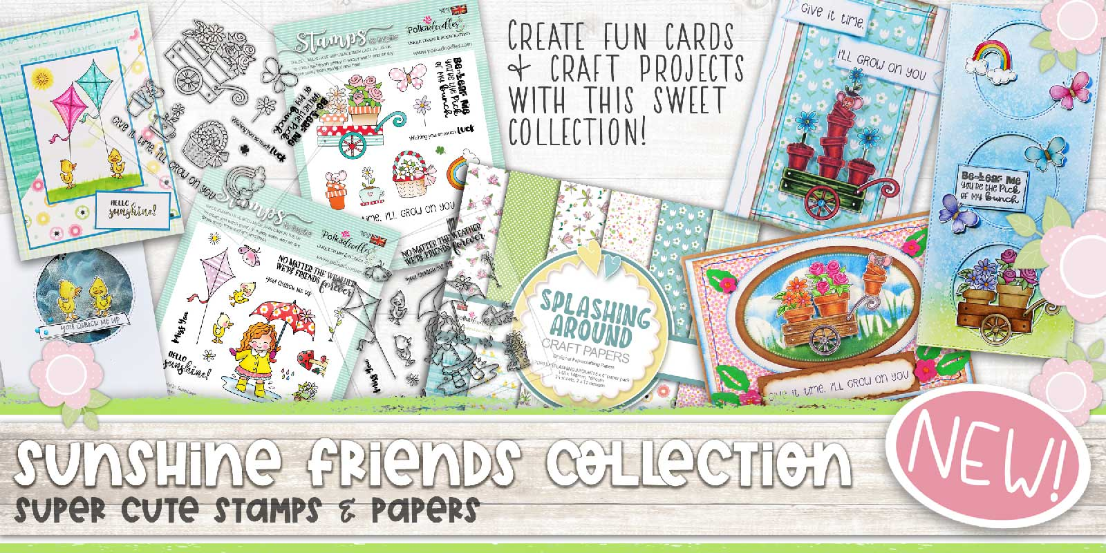 SUNSHINE FRIENDS STAMP AND PAPER COLLECTION