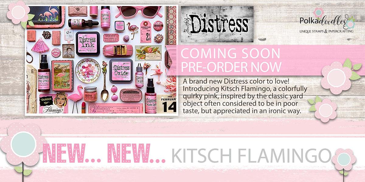 Tim Holtz Kitsch Flamingo Distress collection