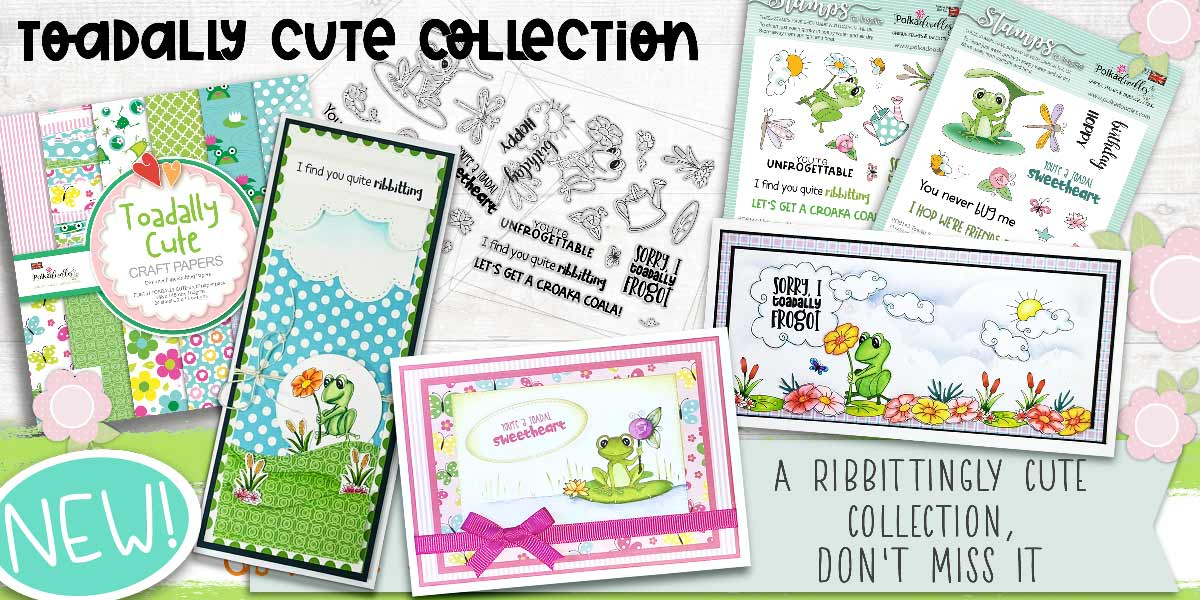 TOADALLY CUTE STAMP AND PAPER COLLECTION