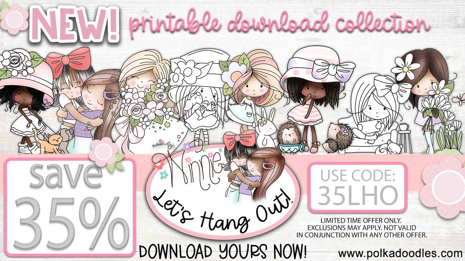 Winnie Lets Hang Out printable download craft collection