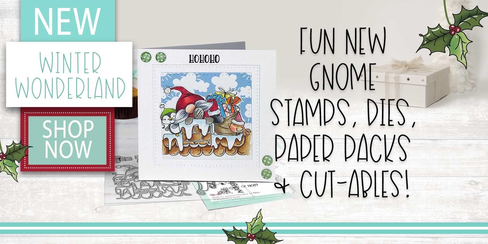 WINTER WONDERLAND GNOME STAMPS DIES PAPER CRAFT SUPPLIES