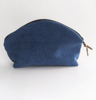 DENIM MAKEUP BAG