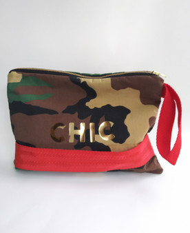 'CHIC' CAMO POP CLUTCH / TAN PRINT