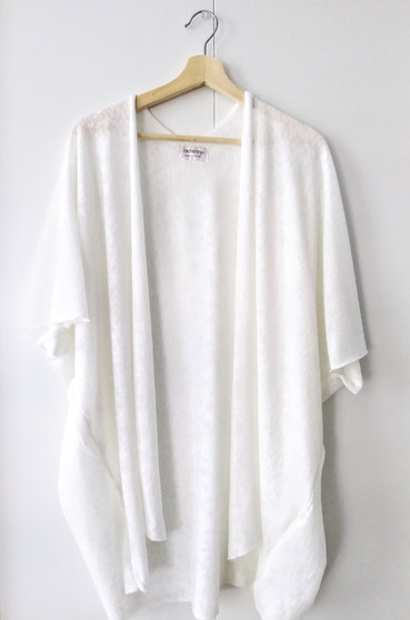 KNIT DUSTER / WHITE