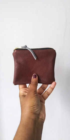 DAILY WALLET / BROWN + GREY