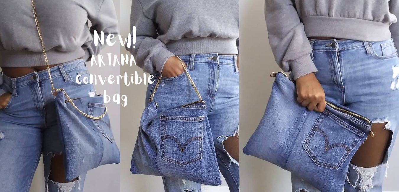 Denim chain bag