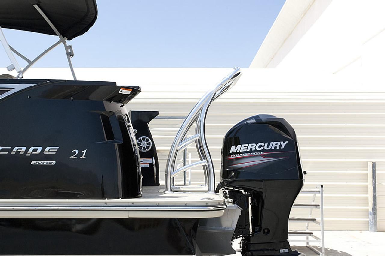 Ski Tow Bar for Pontoon Boats - Polished