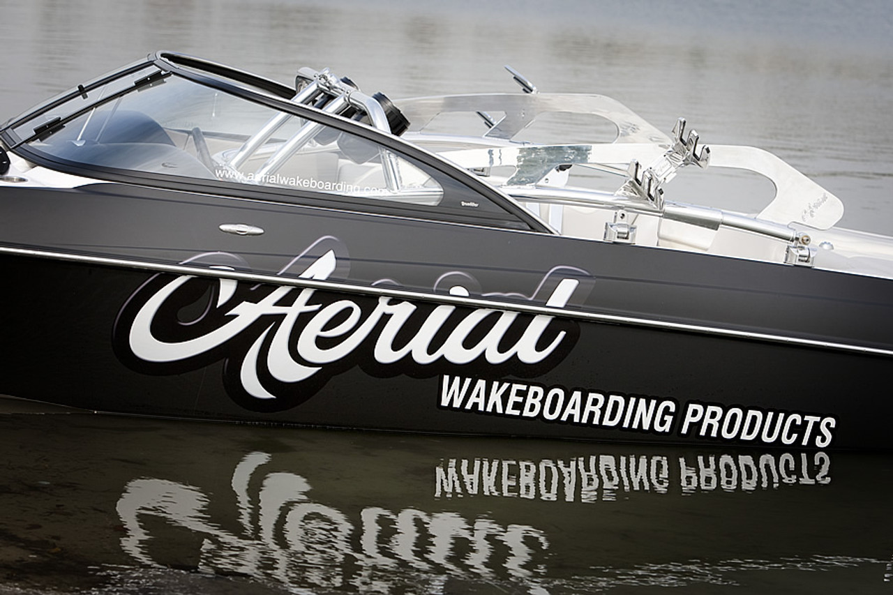 Aerial Surfboard and Wake Rack Quick Release for Wakeboard Tower Polished Alum