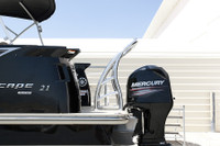 Shown installed on swim deck platform of pontoon boat