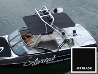 FreeRide wakeboard tower bimini available in black.
