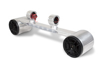 Combo Two Blunt Speakers and LED Light Bar - Polished Aluminum