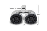 Twin Bullet Speakers - Polished Aluminum