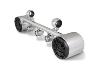 Combo Two Blunt Speakers and Lights  - Polished Aluminum