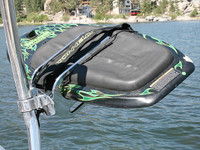 Aerial Oval Kneeboard and Wakeboard Rack Quick Release for Wakeboard Tower  Polished Aluminum