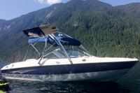 Yes! Your boat's original boat bimini will usually still work with the Ascent wake tower