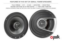 Aerial Single Bullet Wakeboard Tower Premium Speakers (Pair) - Polished Aluminum