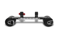 Premium Combo Two Blunt Speakers and LED Light Bar - Black