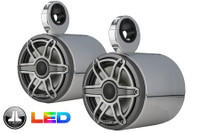 7.7 Inch Blunt LED Wakeboard Tower Speakers - Polished Aluminum