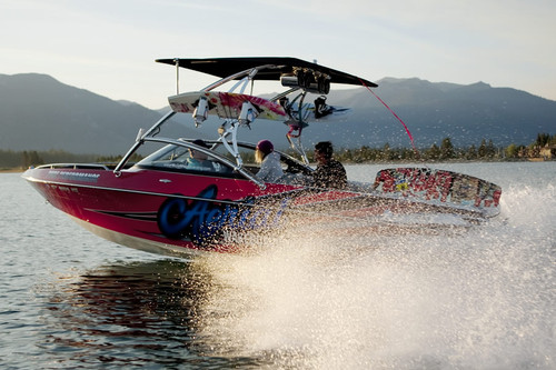 Even at full speed with the optional Eclipse tower bimini, the Assault is very stable and strong