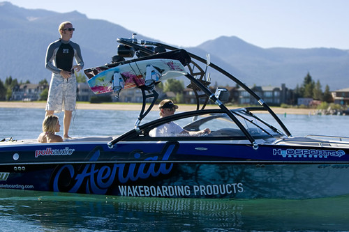 Assault Wakeboard Tower - Powder Coated Black