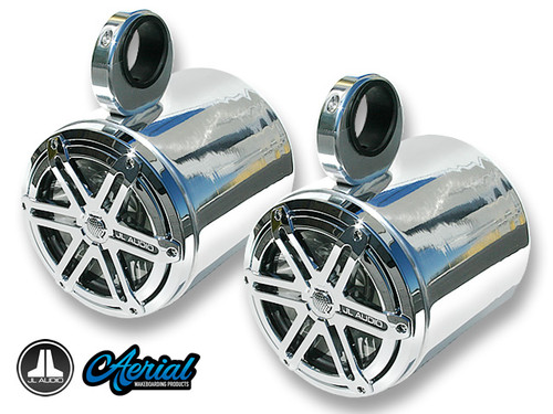 7.7 Inch Blunt Wakeboard Tower Speakers - Polished Aluminum