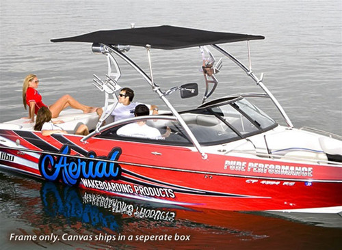Eclipse Wakeboard Tower Bimini - Sunbrella Jet Black