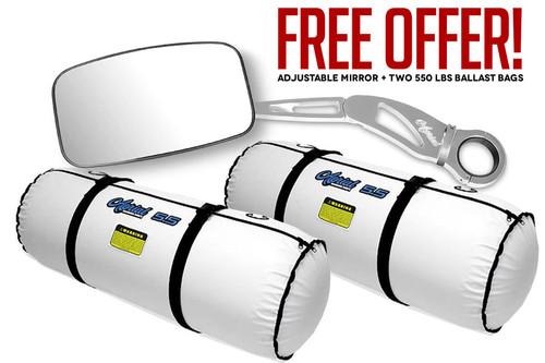 Set of Adjustable Mirror Kit + Two 550 lbs Aerial Ballast Bags