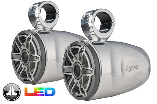 Single FreeRide Universal Tower LED Speakers - Polished Aluminum