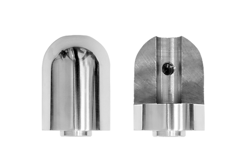 Front and Back View of Replacement Threaded Joint for Wakeboard Towers  (2012 or Newer)