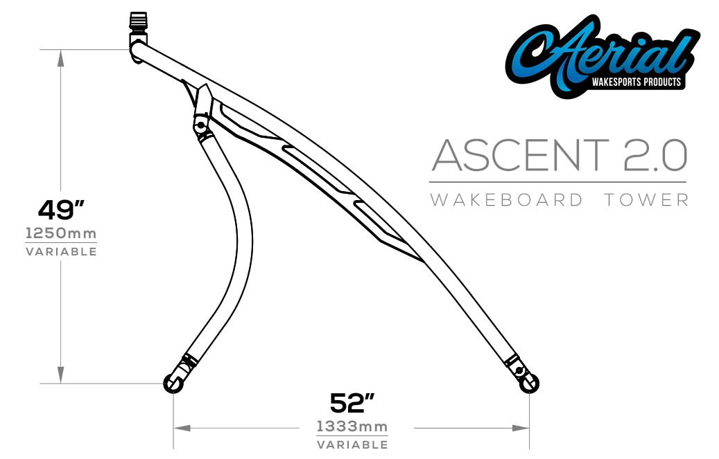Ascent 2.0 wakeboard tower dimensions