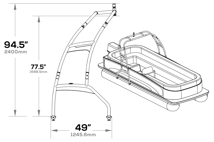 Side dimensions of f250 pontoon wakeboard tower