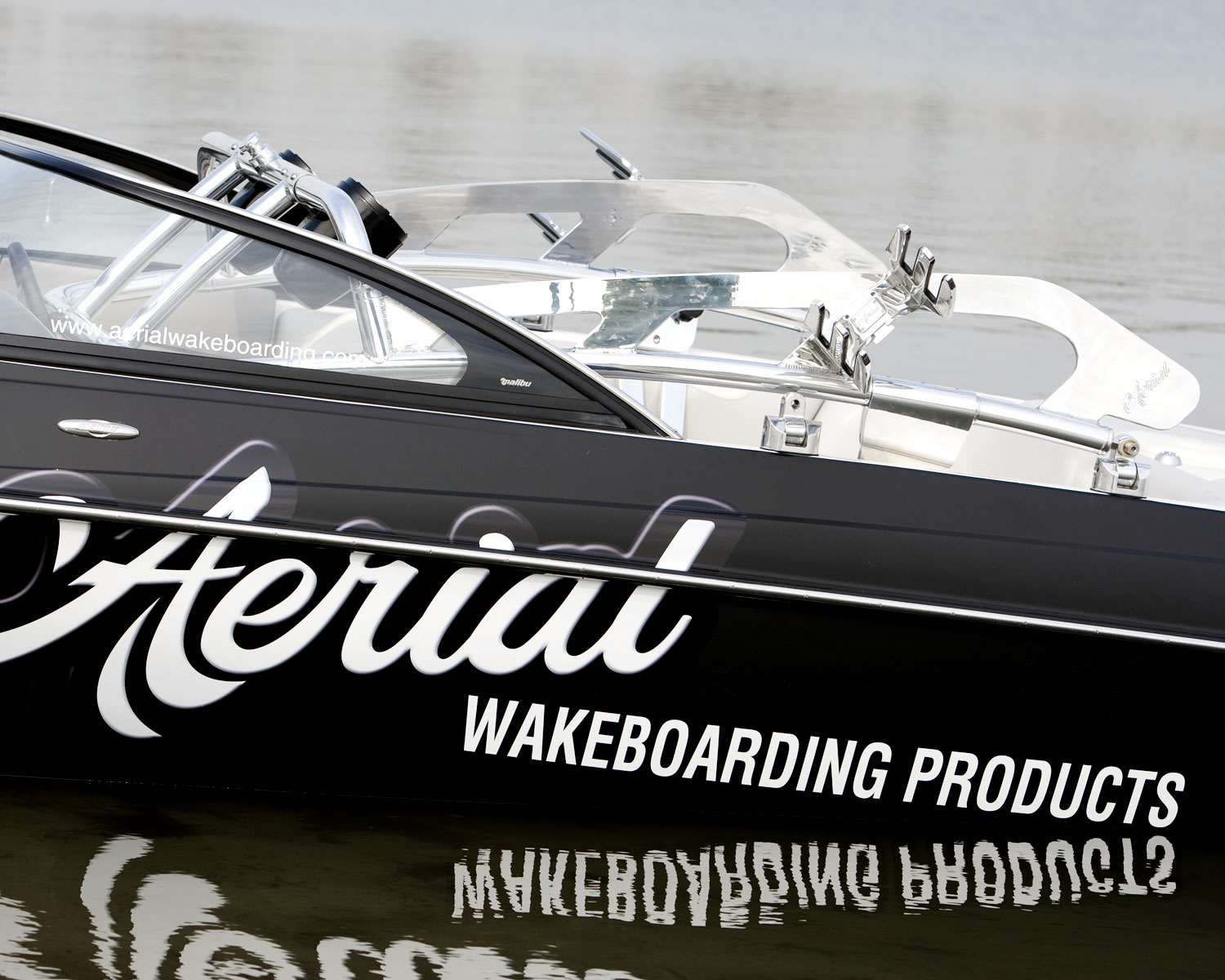 Photo of wakeboard tower folded down