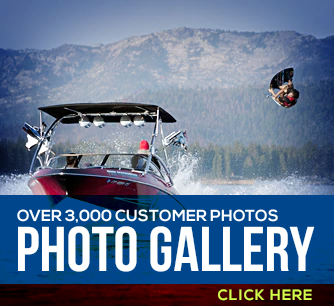 Go to our customer gallery of boat with our wakeboard towers installed