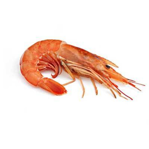 Argentina Red Shrimp - Head On - U8 Wild - 4.4 lbs - Package of 1 - Frozen