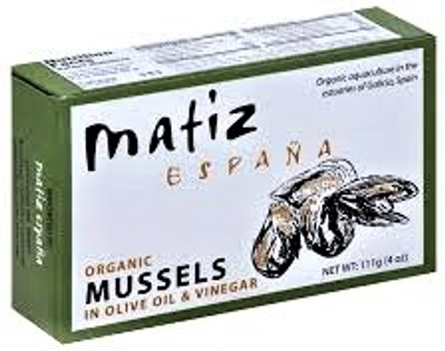 Organic Mussels - Cooked - 4.0 oz - Package of 12