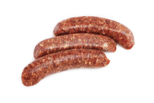 Venison Sausage With Merlot Wine and Blueberries - 3 oz - Package of 48 - Frozen