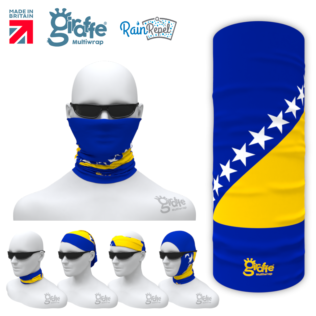 Bosnia Herzegovina  National Flag Bandana Multi-functional Headwear Tube scarf