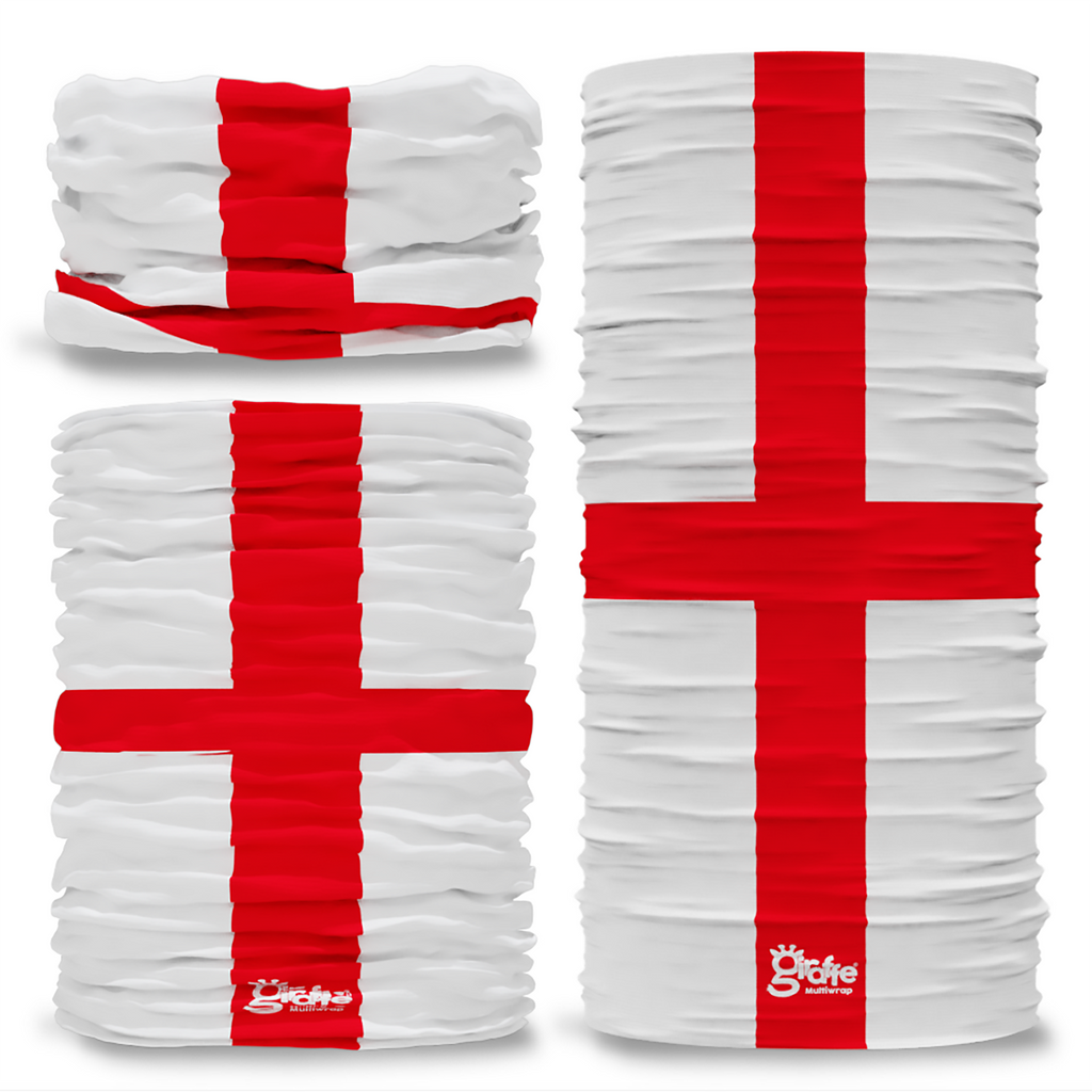 England St George's  National Flag Seamless Tube Bandana Snood Multifunctional multiwrap Giraffe headwear