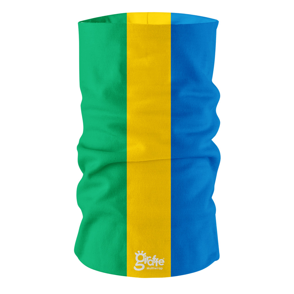 Gabon National Flag Bandana Multi-functional Headwear Tube scarf