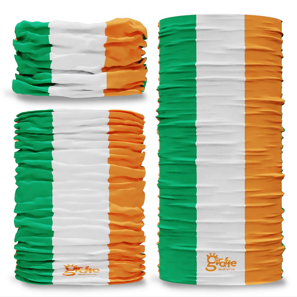 Ireland Irish ROI National Flag Seamless Tube Bandana Snood Multifunctional multiwrap Giraffe headwear