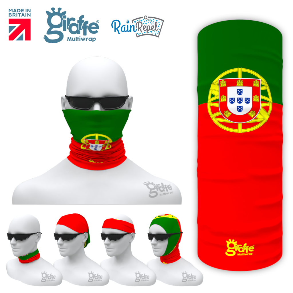 Portugal Portuguese National Flag Bandana Multi-functional Headgear Tube scarf