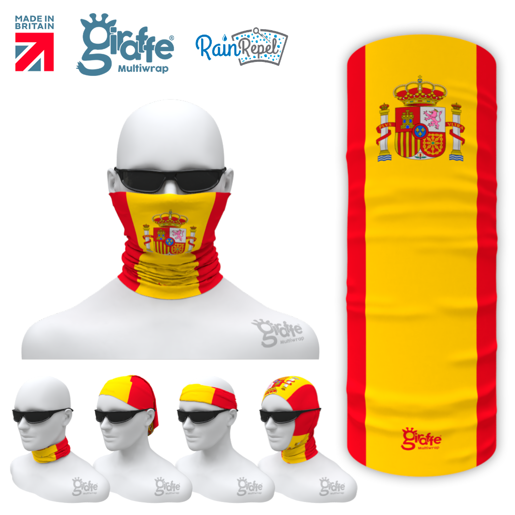 Spanish Spain National Flag Bandana Multi-functional Headgear Tube scarf