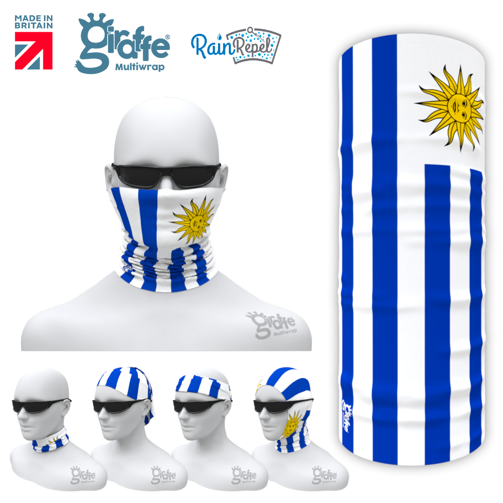 Uruguay National Flag Bandana Multi-functional Headgear Tube scarf