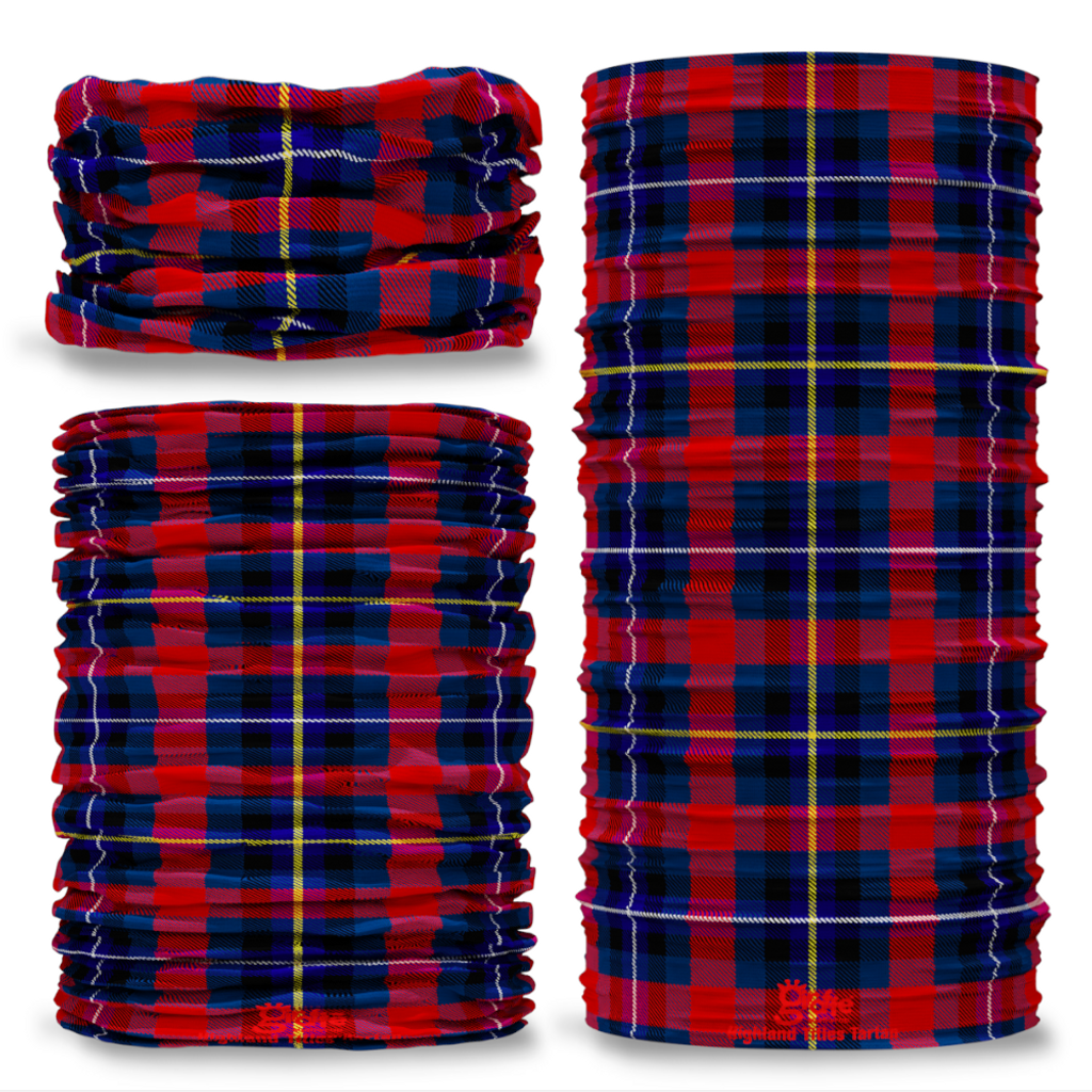 Highland Titles Tartan Scottish Scotland Seamless Tube Bandana Snood Multifunctional multiwrap Giraffe headwear