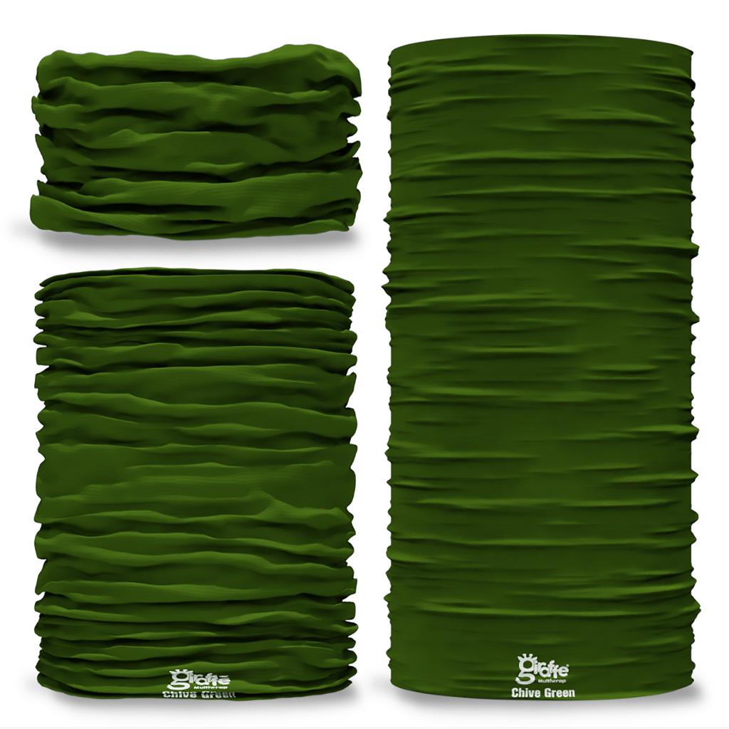 G-693 Dark Chive Green Pantone Seamless Tube Bandana Snood Multifunctional multiwrap Giraffe headwear