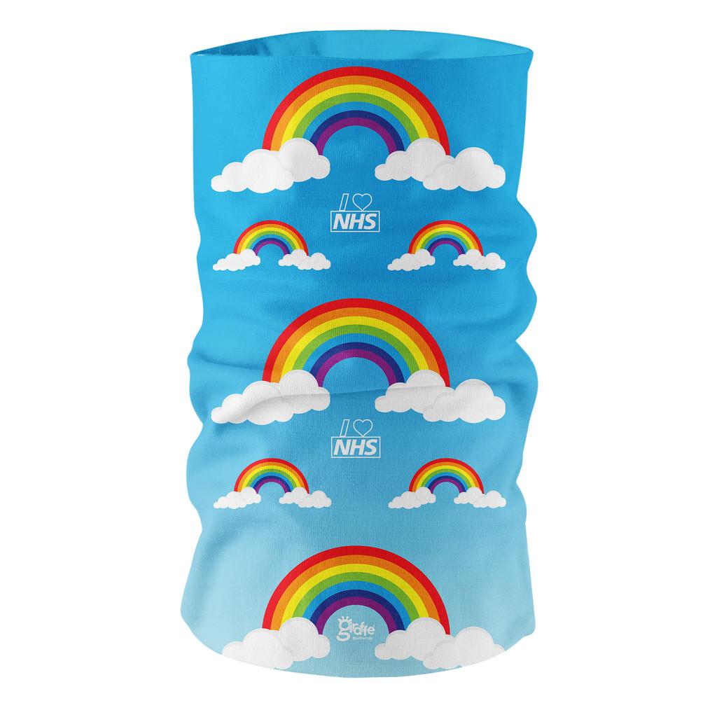 Rainbow design Multi-functional Headgear Bandana snood tube