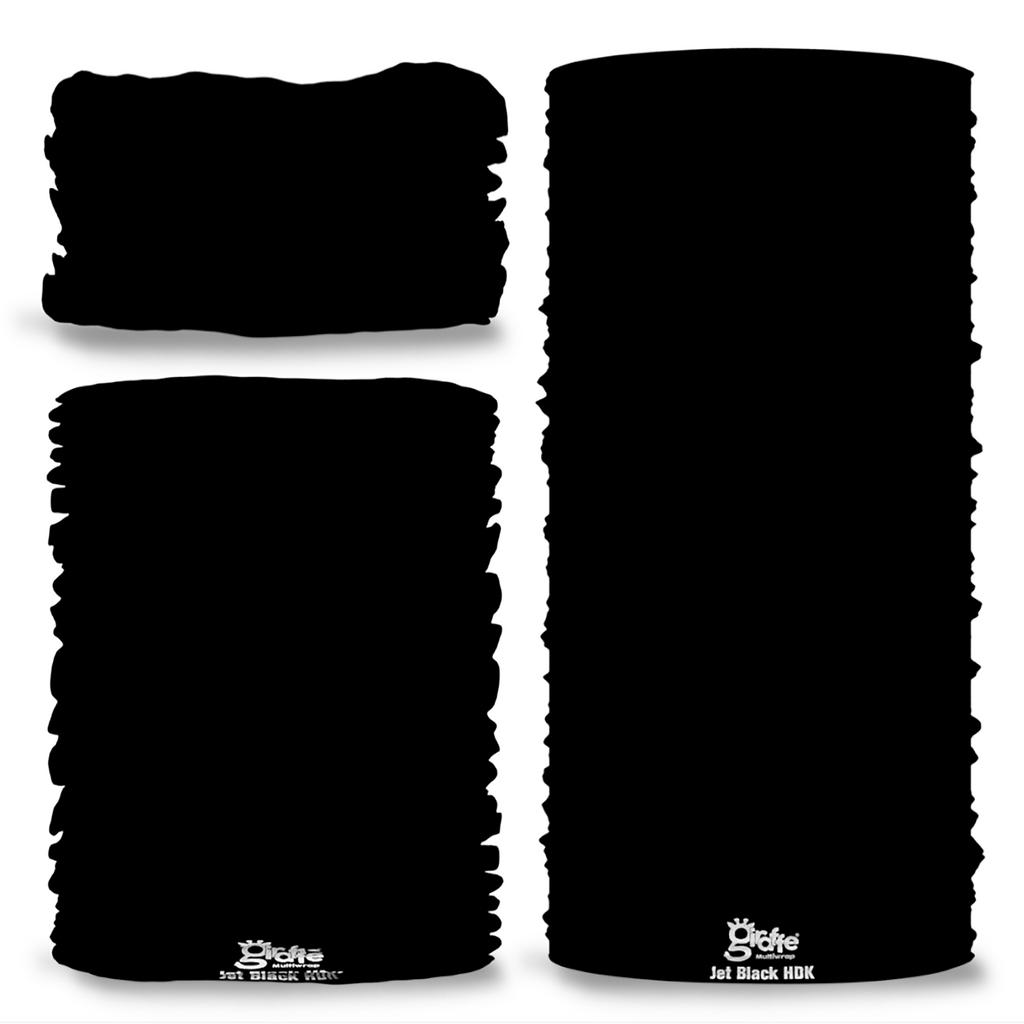 Nano Weave Double Black Multi-functional face protection. Seamless Tube Bandana