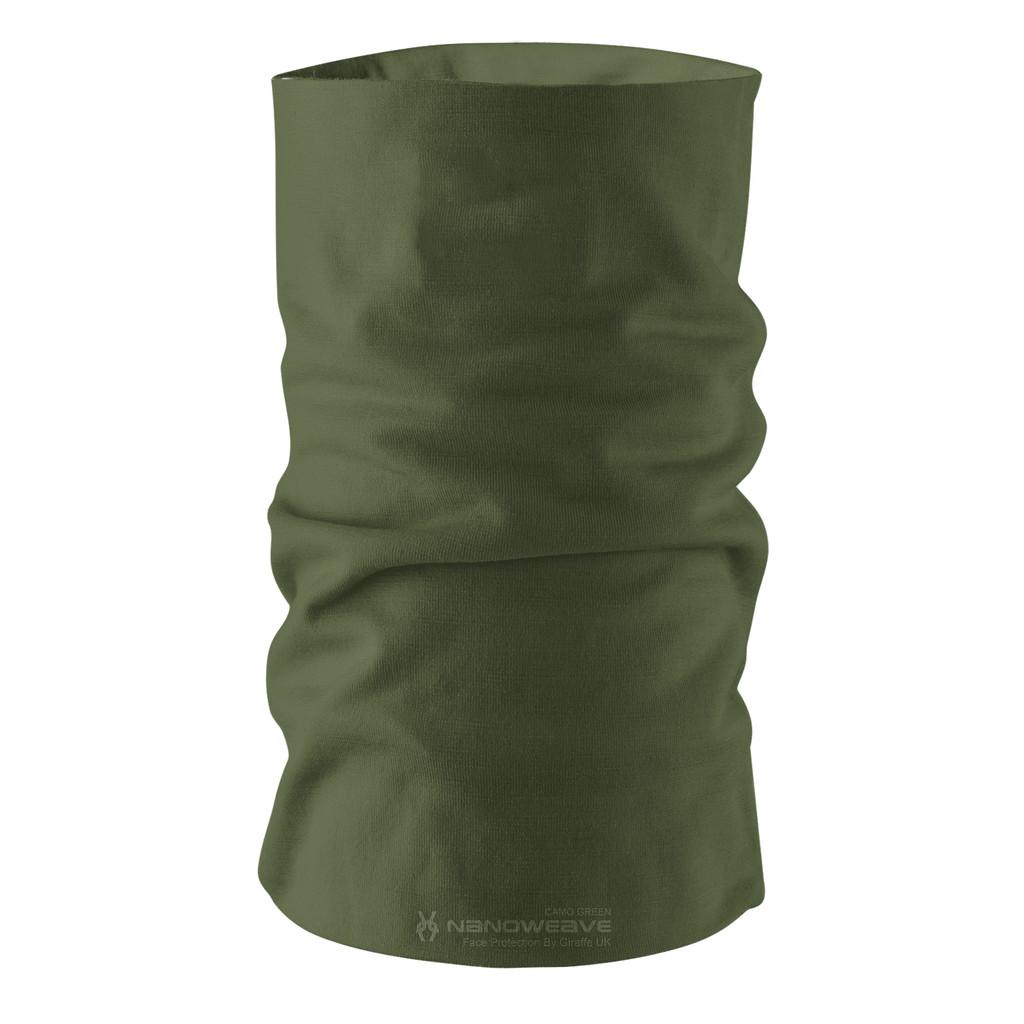 Nano Weave Camo Green Multi-functional face protection. Seamless Tube Bandana